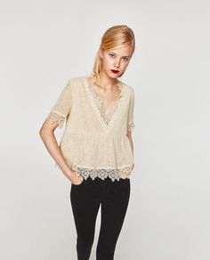 Image 4 of CROCHET V-NECK TOP from Zara