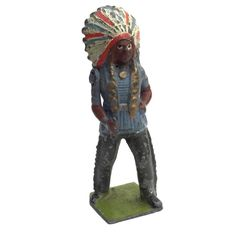 VINTAGE BRITAINS LEAD TOY SOLDIER NATIVE AMERICAN INDIAN CHIEF