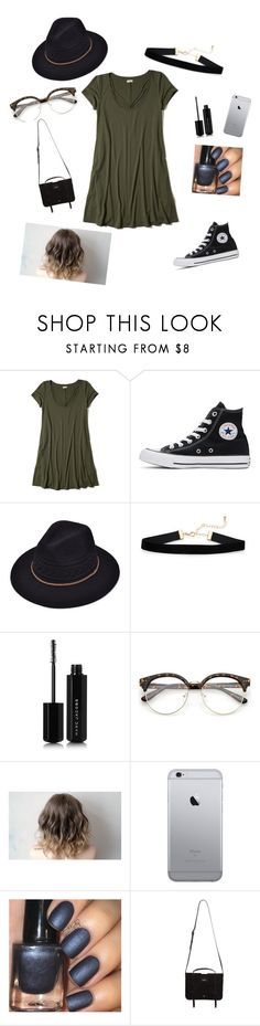 """""""Untitled #30"""" by mak-rivera ❤ liked on Polyvore featuring Hollister Co., Converse, Marc Jacobs and Yves Saint Laurent"""