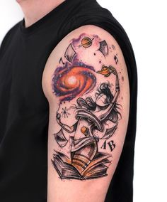 Galaxy books godess tattoo
