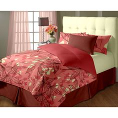Blue Dahlia Bella Vista Printed Double Bed Sheet With Pillow Cover - FabFurnish.com