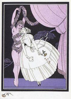 ジョルジュ・バルビエ 「薔薇の精 ニジンスキー」