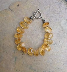 Chunky Golden Citrine Bracelet by EastVillageJewelry on Etsy, $48.00 FREE SHIPPING WITHIN THE U.S.