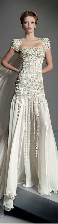 Blanka Matragi 2013 ....Sleeve lace,this design, but alittle longer 2-2.5 inches from elbow....this bodice maybe???