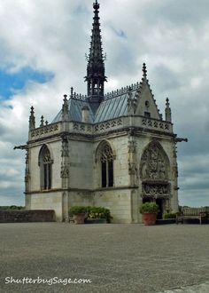 Loire Valley, France - St. Hubert Chapel at Chateau d'Amboise -- final resting place of Leonardo da Vinci