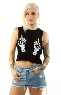 Married to the Mob Let's Bone Cropped Tank
