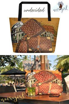 b1da75d8e7 UNDECIDED tote from Noir Girl Magic™ s Nikki Nicole Collection • A trendy  beach
