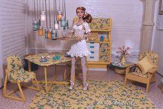 Flickr Barbie Room, Barbie Barbie, Barbie House, Barbies Dolls, Barbie Kitchen, Barbie Diorama, Parker House, Mini Doll House, Doll Display