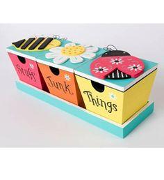 Plaid ® Wood Surfaces - 3 Piece Box Set with Tray | Plaid Enterprises