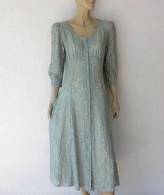 Vintage Lace Dress 80's Bohemian Lace Midi Dress by luvofvintage, $36.00