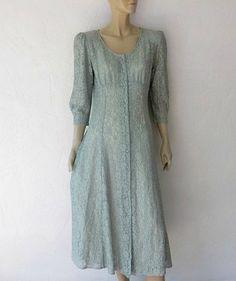 Vintage Lace Dress 80's Bohemian Lace Midi Dress by luvofvintage, $36.00