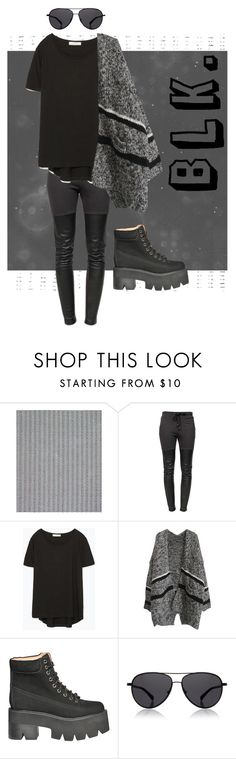 Blk. by lizzy-wheeler on Polyvore featuring Zara, Ragdoll, Jeffrey Campbell, The Row, Dash & Albert, women's clothing, women's fashion, women, female and woman