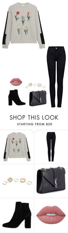 """Untitled #1063"" by h1234l on Polyvore featuring Steve J & Yoni P, J Brand, GUESS, Yves Saint Laurent, MANGO and Lime Crime"