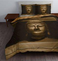 Dekbedovertrek Steel Buddha Gold van Sleeptime.