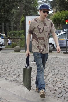"""meoutfit : meoutfit # 1515 """"Camo Beige T-Shirt"""""""
