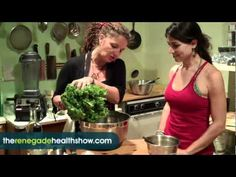Raw Food Recipe for Yummy Asian Kale Salad #638