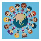 We love the Earth Poster Earth Poster, Love The Earth, Kids Poster, Infinite, Create Your Own, Poster Prints, Children, Young Children, Boys