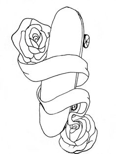Skateboard Tattoo Drawings | Tattoosday UK