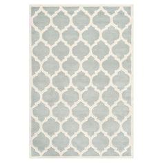 beautiful grey geo rug