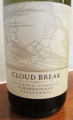 2011 Cloud Break Chardonnay - flavors of apples and pears with a hint of vanilla and soft oak make this a nice everyday wine. A decent wine at a decent price. $8