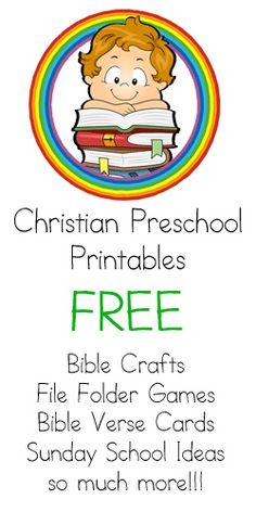 This is a Christian-Run site for Free Christian Teaching Resources. There are Bible Coloring Pages, Bible Verse Cards, Christian Lapbooks, Christian File Folder Games, Felt Board Sets, Finger Puppets, Sunday School Lessons and Homeschooling Curriculum, Bible ABC's and tons of fun Bible Activities and Games. File Folder Games, Bible Activities, Preschool Activities, Bible Games, Children's Bible, Preschool Church Crafts, Church Activities, Free Bible, Bible Verses