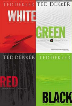 Ted Dekker's Circle Series. Some of my all-time favorite books! It goes in the order of: Black, Red, White, then Green. I am currently reading Green. I read the 1st three already.