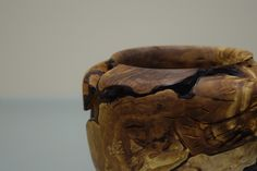 Woodturning. Handmade decorative bowl made from greek olive tree's root.