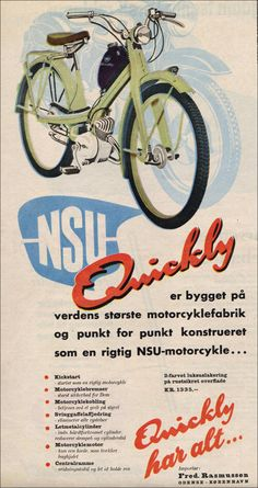 retro reklamer Antique Motorcycles, Cars And Motorcycles, Retro Ads, Vintage Ads, Moped Scooter, Vintage Packaging, Motor Scooters, Car Posters, Cool Bikes