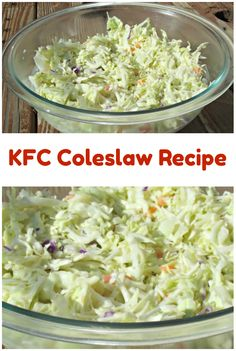Make Your Own KFC Coleslaw! This very easy KFC Copy Cat Coleslaw recipe tastes delicious - just like it's from the restaurant! Make Your Own KFC Coleslaw! This very easy KFC Copy Cat Coleslaw recipe tastes delicious - just like it's from the restaurant! Cabbage Recipes, Veggie Recipes, Gourmet Recipes, Cooking Recipes, Healthy Recipes, Coslaw Recipes, Best Coleslaw Recipe, Recipe For Kfc Cole Slaw, Coleslaw Recipe For A Crowd
