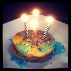 Fun idea for the kids...Birthday cake pancakes on birthday morning!