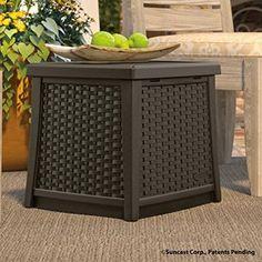 Garden Storage Box Outdoor Patio Backyard Tool Box Container Java