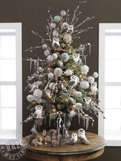 RAZ 2013 Forest Friends Christmas Tree....see the list of items used on the tree on our Trendy Tree Blog post http://www.trendytree.com/blog/raz-2013-forest-friends-decorated-christmas-trees-and-list-of-products/