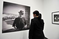 William S. Burroughs' artistic output on view for the first time in Germany at ZKM    A visitor looks at 'Self-Portrait (Tanger)' by US writer William S. Burroughs at the Burroughs exhibition at the ZKM in Karlsruhe, Germany