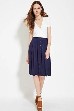 Contemporary Buttoned Skirt | LOVE21 #f21contemporary