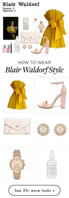 """Blair Waldorf - Gossip Girl - Season 2 Episode 3"" by deathcab4kuz on Polyvore featuring GUESS, Episode, Steve Madden, Michael Kors, Kate Spade, Christian Dior and LSA International"