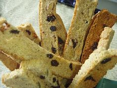 The Food Desert Project - Toaster-Oven Trail Mix Biscotti Toaster Oven Cooking, Oven Recipes, Desert Recipes, Biscotti, Deserts, Bread, Cookies, Counter Top, Healthy