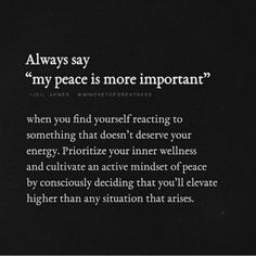 Your peace is too important - Affirmations & Self Love - Quotes Vie Positive, Positive Quotes, Motivational Quotes For Relationships, Motivational Quotes For Love, Strong Quotes, Relationship Quotes, Monólogo Interior, Collateral Beauty, Les Sentiments