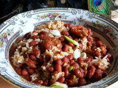 Louisiana Red Beans and Rice ~ Delicious comfort food!  I think I will be cutting this recipe in half though.