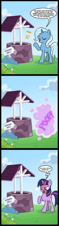 the great and powerful trixie,twilight sparkle,wishing well