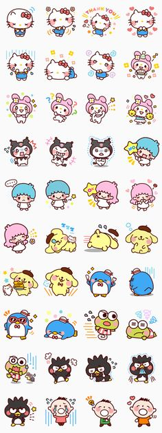 Line Sticker for SANRIO CHARACTERS (Cartoon) Free Download on iPhone, Android, Windows Phone, PC and other devices.