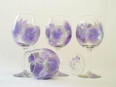 Painted Wine Glasses via Etsy.