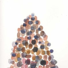 Rocky Original painting Watercolor rocks and by LouisestArt, $60.00