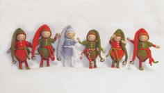 felt elves 2 1/2 inch tall
