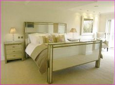 bedroom with mirrored nightstands home design ideas furniture sets decorating and