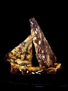 'Chocolate Marble Pumpkin Bark with Nutella Cookies and Salted Pepitas