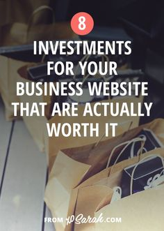 Wondering where to spend money on your growing biz first? Here are 8 investments for your business website that are actually worth it.
