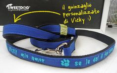 Personalized dog leash - Guinzaglio personalizzato per cane. | https://www.facebook.com/SweetDogStore