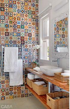 Яркая ванная комната - Стильный дом