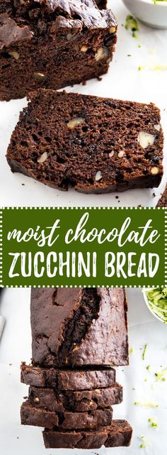 This moist Chocolate Zucchini Bread has a tender crumb and is super chocolatey! Loaded with walnuts and chocolate this easy recipe is so delicious and rich. A great way to use up all those zucchinis from your garden!