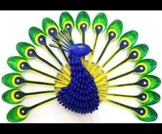 There is an altogether different feel and charm of making best out of waste crafts. Your creativity takes an altogether different level when it comes to making recycled crafts and this idea for your DIY Room Decor Project is the best one. Learn how to make a beautiful Peacock from plastic spoons left after your latest party.This amazing looking peacock does not appear like it is a recycled craft by the look and appeal it carries. But once you learn to make the peacock using plastic spoons…